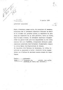 7 aprile 1970 SID fonte umana (infiltato) su progetto anarchico di rapimento personalità COMP