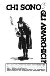 Chi sono gli anarchici