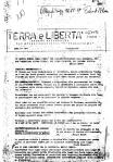 """Giornale Terra e Libertà del gruppo Anarchico """"l'Iconoclasta"""" del 21 marzo 1969"""