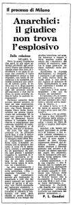 1971 04 6 Unità Anarchici il giudice non trova l esplosivo