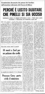 1970 04 9 Unità Perché è lecito dubitare che Pinelli si sia ucciso